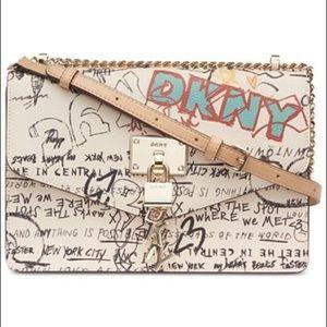 DKNY Elissa Graffiti Logo Chain Strap Bag